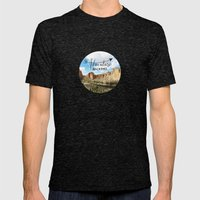 Adventure Beckons- Smith… Mens Fitted Tee Tri-Black SMALL