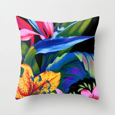 Let's Go Abstract Throw Pillow