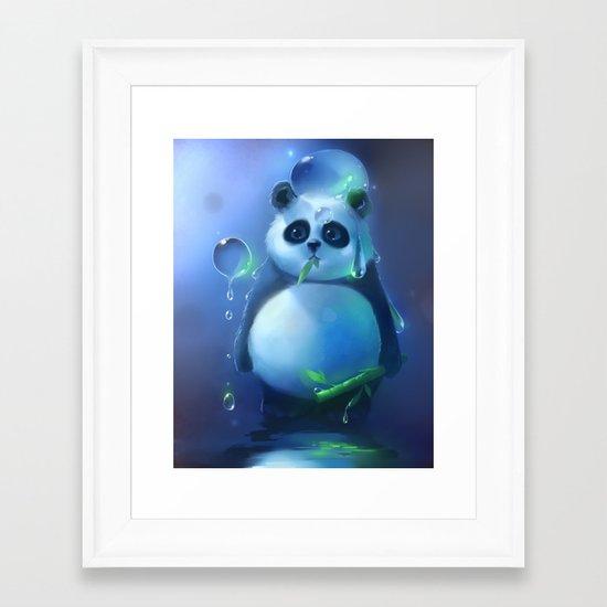 aqua panda Framed Art Print