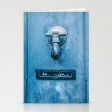 Blue Doorknocker Stationery Cards
