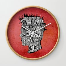 Typography Tyler Durden Uncensored Wall Clock