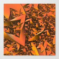 A Fall of (Fractal) Leaves Canvas Print