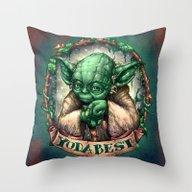 YoDaBeSt Throw Pillow