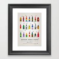 My SUPER SODA POPS No-00 Framed Art Print