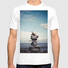 Reach for Your Dreams White SMALL Mens Fitted Tee