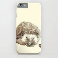 iPhone & iPod Case featuring Hector the Hedgehog by Jess Polanshek