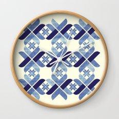 Nordic Blue Wall Clock