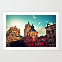 Madrid Sky Art Print