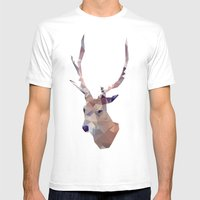 Odocoileus Virginianus Mens Fitted Tee White SMALL