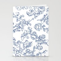 Toile Roses Stationery Cards