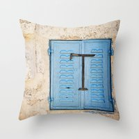 Vibrant Blue Window In S… Throw Pillow