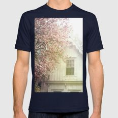 Cottage And Magnolias Mens Fitted Tee Navy SMALL