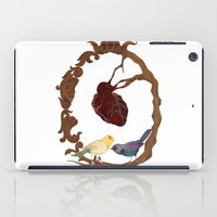Two Birds And A Heart iPad Case