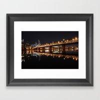 Hawthorne Bridge Framed Art Print