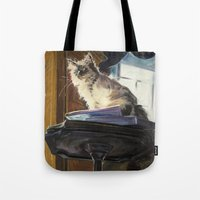 The Magnificent Ascent of the Mighty Bear (the Ragdoll Cat) Tote Bag