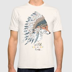 wild heart free spirit Mens Fitted Tee Natural SMALL