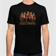 Space Cowboys Mens Fitted Tee Black SMALL