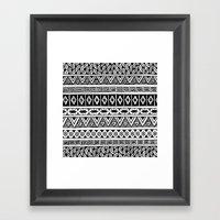 Black And White Geometri… Framed Art Print