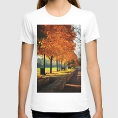 Urban Fall Womens Fitted Tee White SMALL
