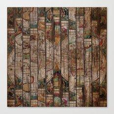 Encrypted Map Canvas Print