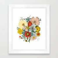 Flower Wad Framed Art Print