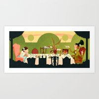 Mad Tea Party Art Print