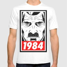 OBEY 1984 White Mens Fitted Tee SMALL