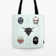 American Horror Masks Tote Bag