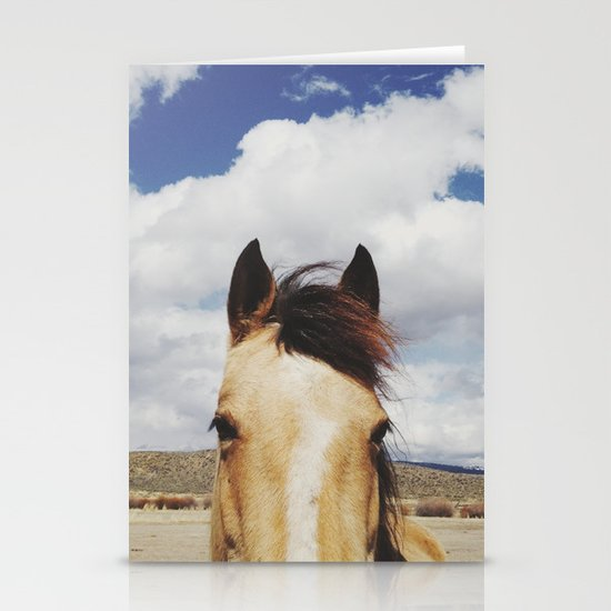 Cloudy Horse Head Stationery Card