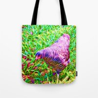 Hen On Grass Tote Bag