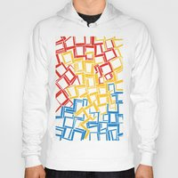 rectangles in primary colours Hoody