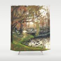Charles River Esplanade … Shower Curtain
