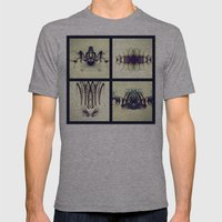 Lights Collage Mens Fitted Tee Athletic Grey SMALL