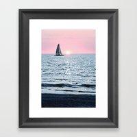 Sail Into The Sun 2 Framed Art Print