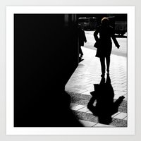 Me, myself and my shadow Art Print
