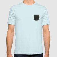 Moon Lamp Mens Fitted Tee Light Blue SMALL