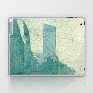 Massachusetts Map Blue V… Laptop & iPad Skin
