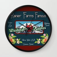 Washington Apples Wall Clock