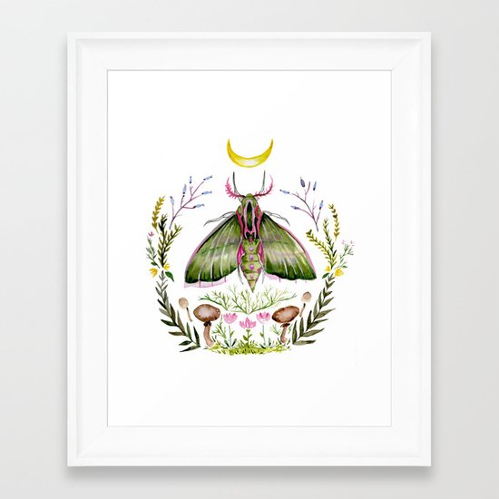 Pink Moth Framed Art Print
