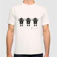 ROBOT Number One Mens Fitted Tee Natural SMALL