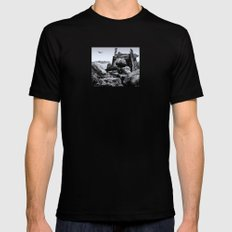 THE OUTPOST SMALL Black Mens Fitted Tee