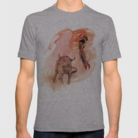 Bullfighter Mens Fitted Tee Athletic Grey SMALL