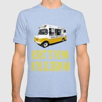 Respect to the man in the Ice Cream Van  Mens Fitted Tee Tri-Blue SMALL