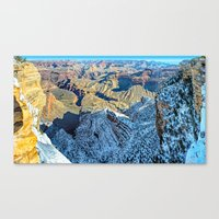 Winter Morning South Rim Panorama Canvas Print