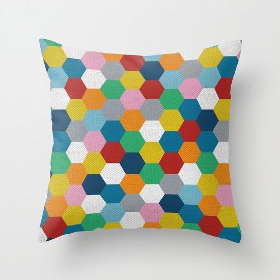 Honeycomb 3 Throw Pillow