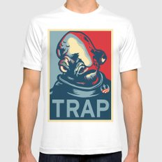 TRAP Mens Fitted Tee White SMALL