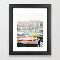 La Ciotat - Boats Framed Art Print