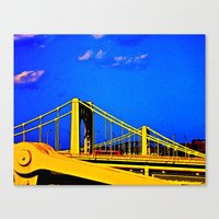 The 3 Sisters Bridges Canvas Print