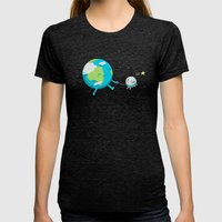 Moonwalk Womens Fitted Tee Tri-Black SMALL