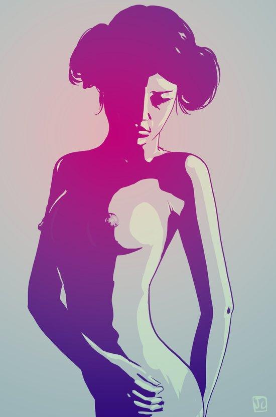 Nude Princess Leia Art Print